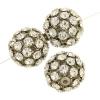Rhinestone Bead 20mm Silver/ Crystal